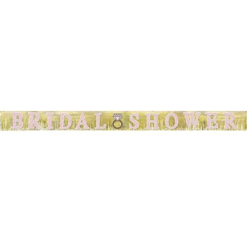 Glitter Fringe Bridal Shower Banner, 10-ft