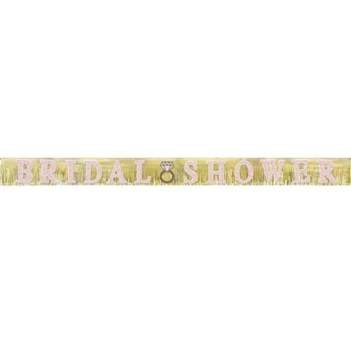 Banderole à franges scintillantes pour fête nuptiale, 10 pi