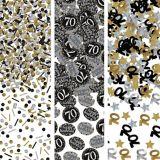 Confettis Célébration étincelante 70e anniversaire