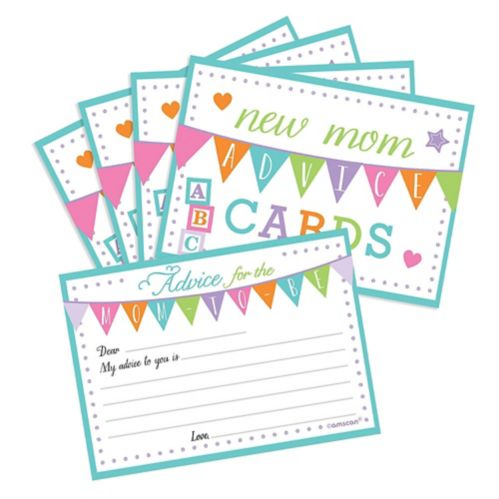 New Mommy Advice Cards, 24-pk
