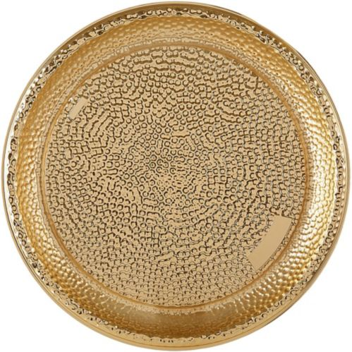 Large Gold Hammered Serving Tray Product image