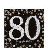 Sparkling Celebration 80th Birthday Lunch Napkins, 16-pk