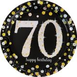 Sparkling Celebration Prismatic 70th Birthday Lunch Plates, 8-pk