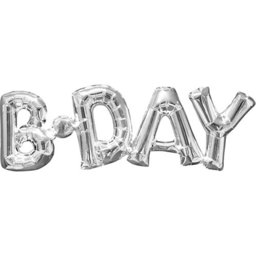 Air-Filled B-Day Letter Balloon Banner Product image