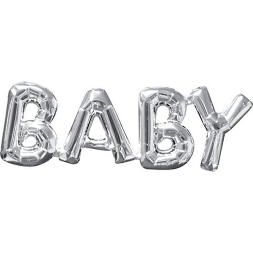 Air-Filled Baby Letter Balloon Banner