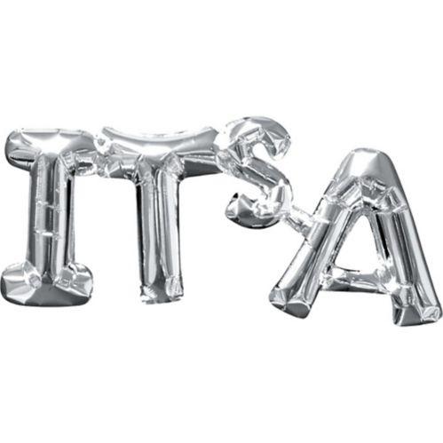 Banderole de ballons gonflables à l'air, lettres It's A