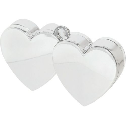 Silver Double Heart Balloon Weight