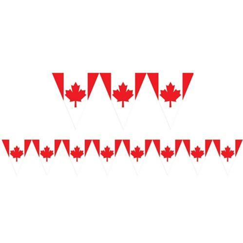 Banderole de fanions drapeau canadien Image de l'article