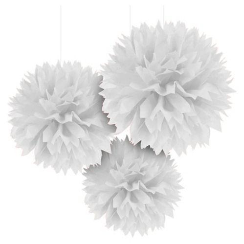 Décorations de pompons en papier de soie duveteux, 16 po, paq. 3 Image de l'article