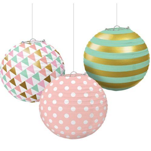 Pastel & Gold Paper Lanterns Product image
