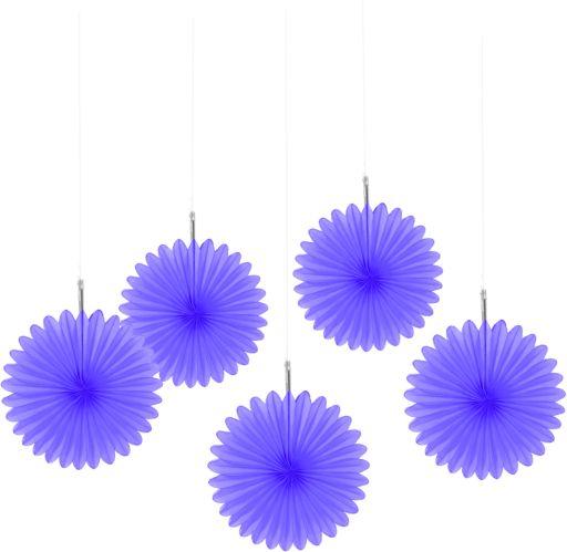 Mini Paper Fan Decorations, 5-pk Product image