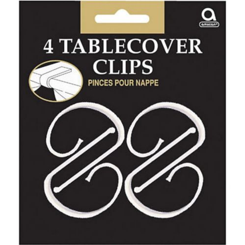 Clear Table Cover Clips, 4-pk