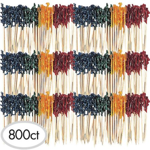 Multicolour Frill Party Picks, 800-pk