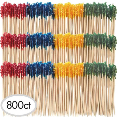 Tall Multicolour Frill Party Picks, 800-pk
