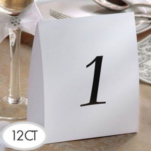 Table Number Tent Cards, 1-12