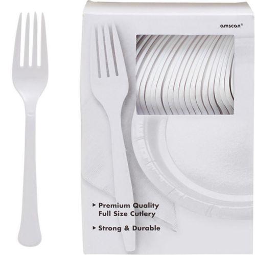 Fourchettes en plastique de qualité supérieure, paq. 100