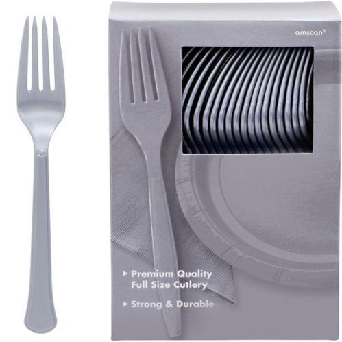 Fourchettes en plastique de qualité supérieure, grand paquet de fête, paq. 100