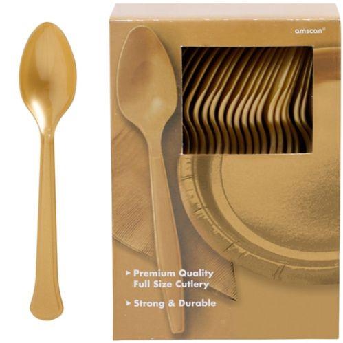 Cuillères en plastique de qualité supérieure, grand paquet de fête, paq. 100 Image de l'article