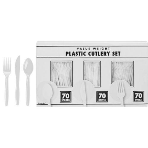 Couverts en plastique, grand paquet de fête, paq. 210 Image de l'article