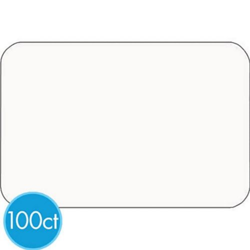 White Name Badges, 100-pk