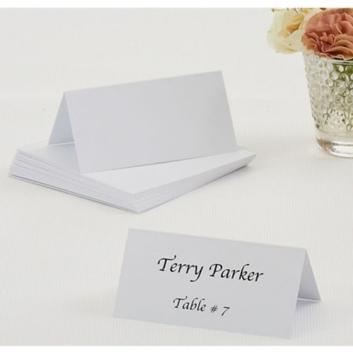 White Place Cards, 50-pk