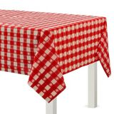Red Gingham Plastic Table Cover | Amscannull