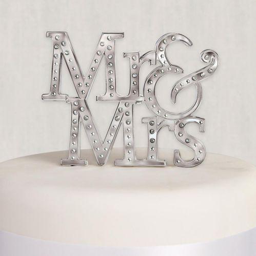 Décoration à gâteau Mr & Mrs