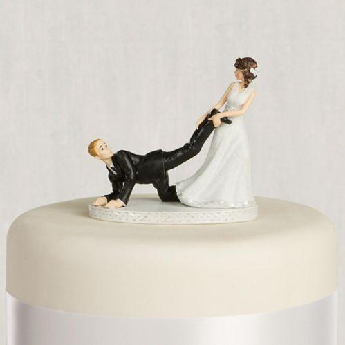 Décoration pour gâteau de mariage Tiré par la jambe