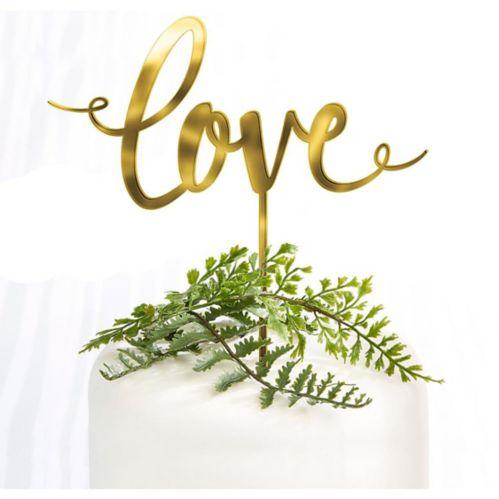 Décoration de gâteau de mariage Love or, 6 1/4 x 6 1/2 po Image de l'article