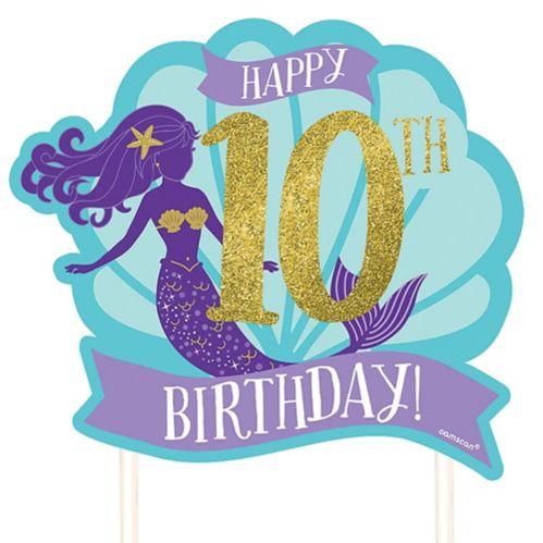 Customizable Wishful Mermaid Cake Topper