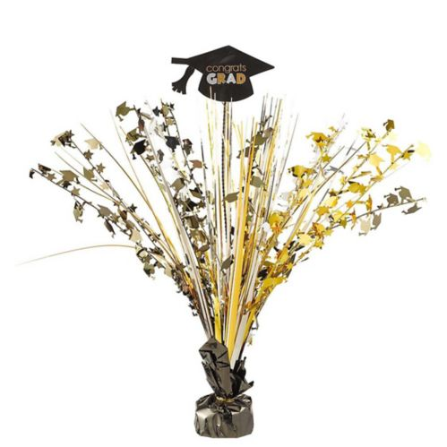 Congrats Grad Metallic Spray Centerpiece