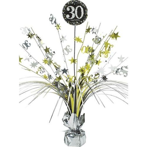 Sparkling Celebration 30th Birthday Spray Centerpiece
