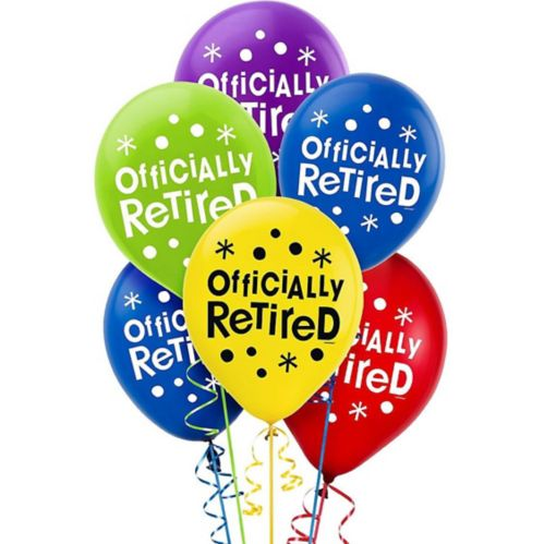 Ballons Célébration Happy Retirement, paq. 15 Image de l'article