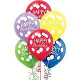 Rainbow Balloon Bash Birthday Balloons, 72-pk