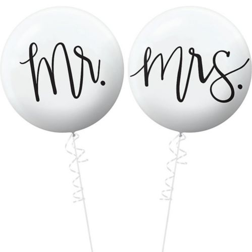 Mr. & Mrs. Wedding Balloons, 2-pc