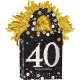 Sparkling Celebration Prismatic 40th Birthday Balloon Weight | Amscannull