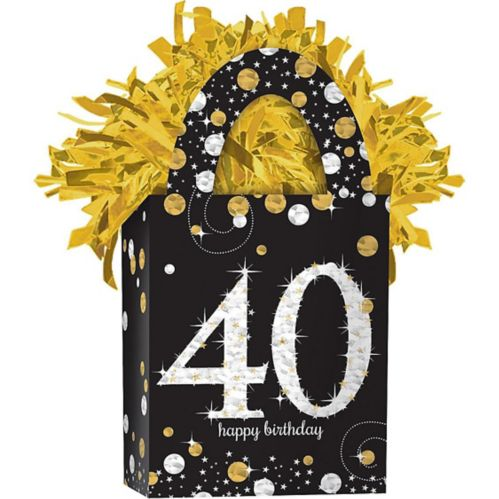 Sparkling Celebration Prismatic 40th Birthday Balloon Weight