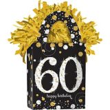 Sparkling Celebration Prismatic 60th Birthday Balloon Weight