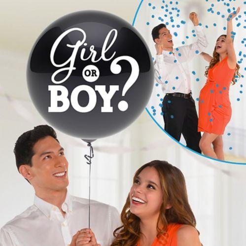Ballon pour dévoilement du sexe garçon avec confettis Image de l'article