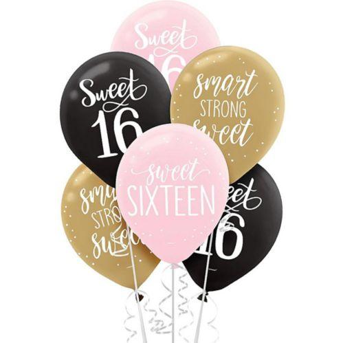 Sweet 16 Balloons, 15-pk