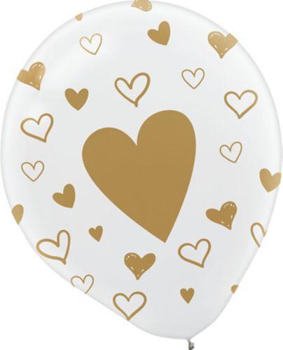 Ballons en latex cœurs, 12po,en vrac Image de l'article
