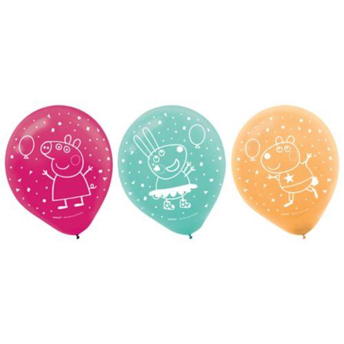 Ballons Peppa Pig, paq. 6