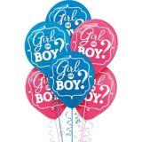 Ballons, dévoilement du sexe garçon ou fille, paq. 15 | Amscannull