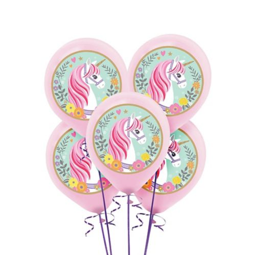 Magical Unicorn Balloons, 5-pk