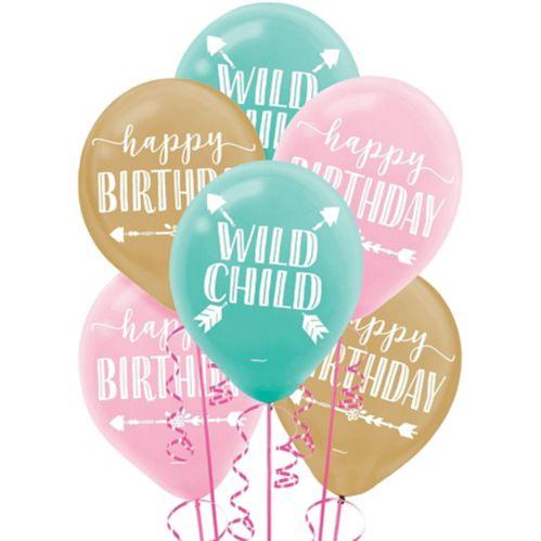 Ballons Fille boho, paq. 15 Image de l'article