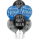 Happy Birthday Classic Balloons, 15-pk