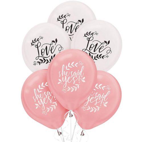 Ballons de mariage, verdure florale, paq. 15