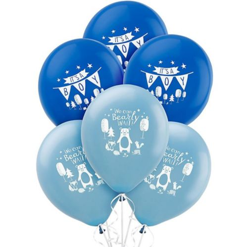 Can Bearly Wait Balloons, 15-pk