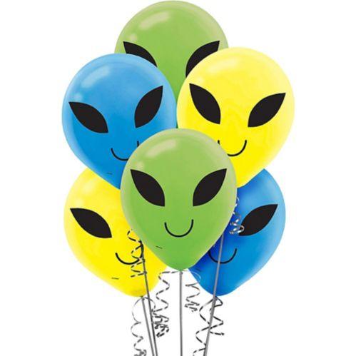 Blast Off Alien Balloons, 15-pk