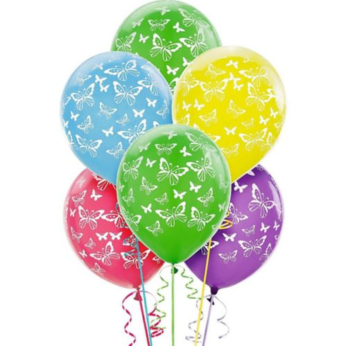 Butterfly Balloons, 6-pk
